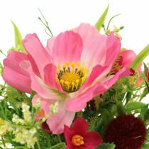 Decorative bouquet Cosmea and snowball in a bunch Artificial Pink Assorted H18cm