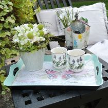 Tray vintage butterfly 44x30cm