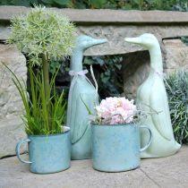 Decorative cup plant pot mandala enamelled Ø11cm H10cm