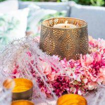 Dahlia blossom wreath pink, cream Ø42cm