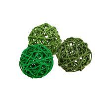 Decorative balls green mix Ø5cm 36pcs