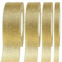 Decorative ribbon gold different widths 22.5m