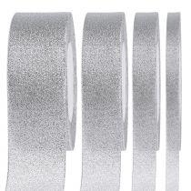Decorative ribbon silver different widths 22.5m