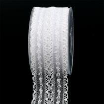 Decorative ribbon lace 55mm 20m white
