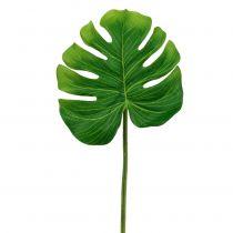 Decorative leaf Philo leaf green W11cm L29.5cm 3pcs