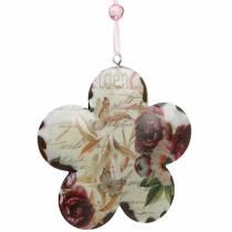 Decorative flower for hanging peonies nostalgic metal spring decoration 4pcs