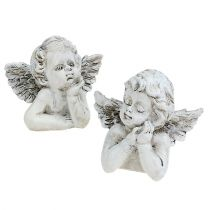 Decorative angel H7.5cm 6pcs