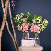 Decorative bottle vases in metal holder H25cm