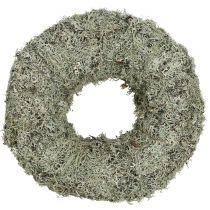 Decorative wreath, moss wreath gray Ø38cm 1p