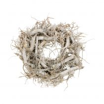 Decorative wreath nature, gray Ø35cm 1p