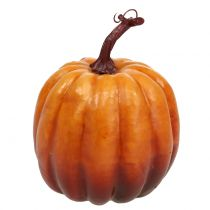 Decorative pumpkin orange 14cm