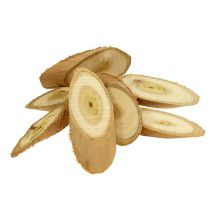 Decorative slices made of wood oval 9-12cm 500g