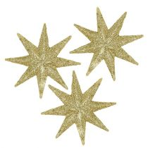 Decorative stars gold Ø5cm 20pcs