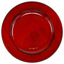 Decorative plate Ø28cm red-black plastic