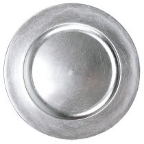 Decorative plate silver Ø28cm