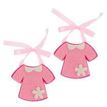 Decoration for birth felt dress pink 7cm 20pcs
