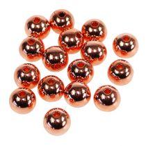 Decorative pearls copper metallic 14mm 35pcs