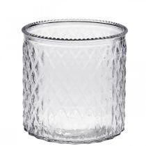 Decorative glass lantern Ø12cm H12.5cm