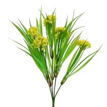 Decorative grass with flowers yellow, green L30cm