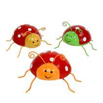 Decorative beetles assorted colors 8cm 3pcs