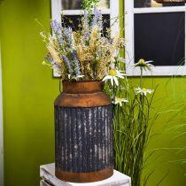 Deco milk jug vintage look metal planter garden decoration H35cm
