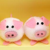 Decorative piggy pink 5cm set