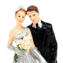 Decorative silver wedding couple 10cm