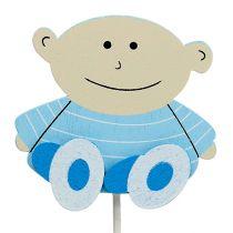 Decorative sticks baby blue 5cm L25cm 20pcs