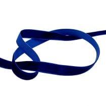 Decorative ribbon Velvet blue 10mm 20m