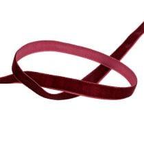 Decorative ribbon Velvet Bordeaux 10mm 20m