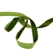 Decorative ribbon Velvet dark green 10mm 20m