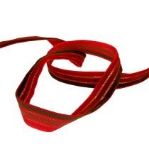Decorative ribbon 3-colored velvet 15mm 10m