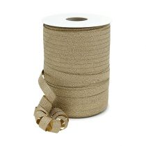 Decorative ribbon gold with mica 10mm 150m