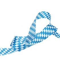 Deco ribbon white-blue 25mm 20m