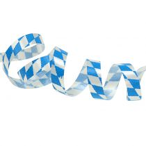 Deco ribbon poly tape blue-white 5mm 250m