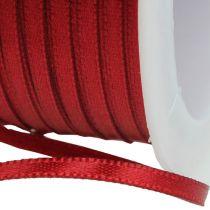 Gift ribbon decoration ribbon 3mm x 50m Bordeaux