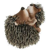 Decorative figure hedgehog with child 11.5cm 2pcs