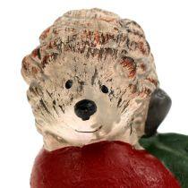 Decorative figure hedgehog on apple 7.5cm ceramic