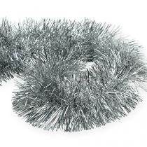 Tinsel garland silver 2m