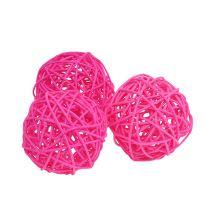 Decorative balls pink Ø7cm 18pcs