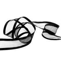 Decorative ribbon black 40mm 25m