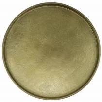Decorative plate clay Ø30cm gold
