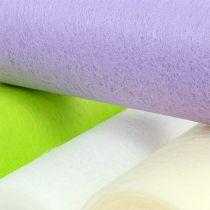 Decorative fleece table runner 23cm colored 25m
