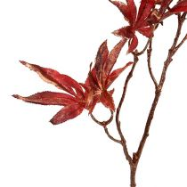 Decorative branch dark red with mica 52cm
