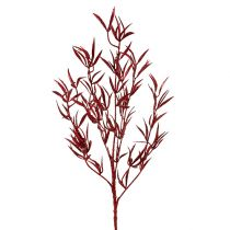 Decorative branch red with mica 69cm 2pcs