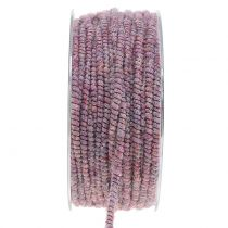 Wick thread glamor purple with wire 33m