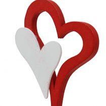 Decorative plug double heart 28cm 18pcs