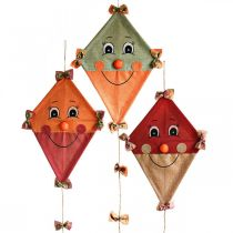 Decorative kite to hang up Autumn decoration jute assorted 40 × 55cm 3pcs