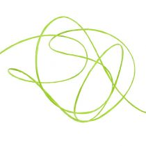 Wire wrapped around 50m of apple green