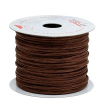 Wire wrapped 50m brown